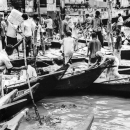 Crowded Wharf In Sadarghat @ Bangladesh