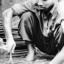 Man Fastening The Nailhead @ Bangladesh