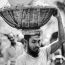 Container In The Basket On The Head @ Bangladesh