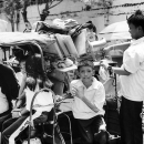 School Boys And Girls On The Trishaw