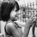 Little Girl With Short Hair Smiled @ Philippines