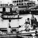 Passengers On The River Ferry Floating On The Buriganga River @ Bangladesh