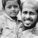 Frowned Faces Of Father And His Son @ Bangladesh