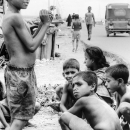 Children Hanging Around By The Roadside @ Bangladesh