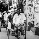 Man Pointig On The Cycle Rickshaw @ Bangladesh