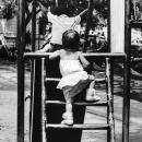 Baby Climbing The Chute