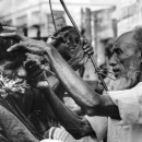 Open-air Barber By The Wayside @ Bangladesh