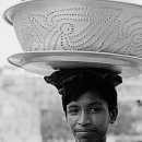 Tray And Basin On The Head @ Bangladesh