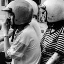 Two Helmets On A Motorbike @ Malaysia