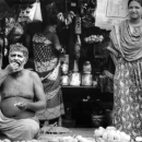 Eating Man And Standing Woman @ Bangladesh