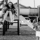 Two Girls On The Swing @ Malaysia