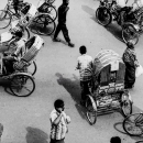 Pedestrians And Cycle Rickshaws @ Bangladesh