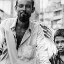 Rickshaw Wallah And Boy @ Bangladesh