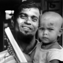 Frowned Face Of A Shaven-bald Baby @ Bangladesh