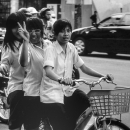 Three School Girls And A Peace Sign @ Vietnam