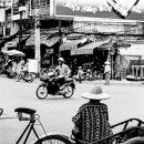 Man Watching The Traffic On The Cart @ Vietnam
