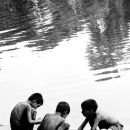 Three Boys On The Edge Of The Water @ Bangladesh
