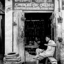 Man And Tires At The Storefront @ Bangladesh