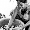 Woman Selecting Fishes @ Vietnam