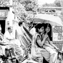 Mother And Her Son Under The Umbrella @ Bangladesh