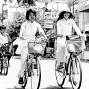 Two Ao Dai On Bicycles @ Vietnam