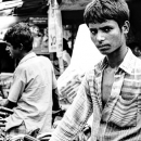 Many Cycle Rickshaws And Two Rickshaw Wallah @ Bangladesh