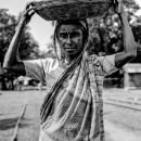 Saree, Basket And Woman @ Bangladesh