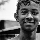 Boy Giving A Bitter Laugh