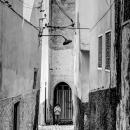 Girl Walking The Alleyway Alone