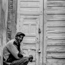 Man In Front Of A Locked Door @ Morocco