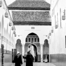 Men Entering Into Mausoleum Of Idriss I