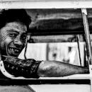 Smiling Man On A Car @ Myanmar