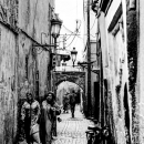 Women And A Motorbike In The Lane