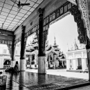 Old Woman Relaxing In A Hall @ Myanmar