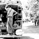 Man Standing At The Back Of A Truck @ Myanmar