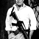 Man And Assault Rifle
