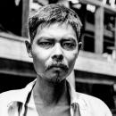 Rock-ribbed Face Of A Man @ Myanmar