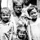 Five Children Stood In Front Of Me @ Myanmar
