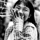 Hearty Laughing Of A Woman @ Myanmar