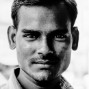 Young Man With A Firm Face @ India