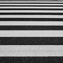 Pedestrian At The End Of The Stripes