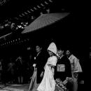 Bridal Couple Under The Sunshade