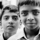 Lean-forwarded Boy And Suspicious Boy