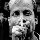 Cigarette In Font Of His Face @ India