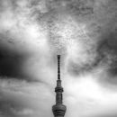 Skytree Stretches Up Toward The Sky @ Tokyo