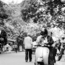 Man Riding On Bajaj Chetak
