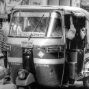 Auto Rickshaw In The Lane