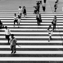 Pedestrians And White Lines