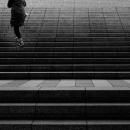 Climbing Figure On The Stairway