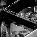 Two Women On Escalator